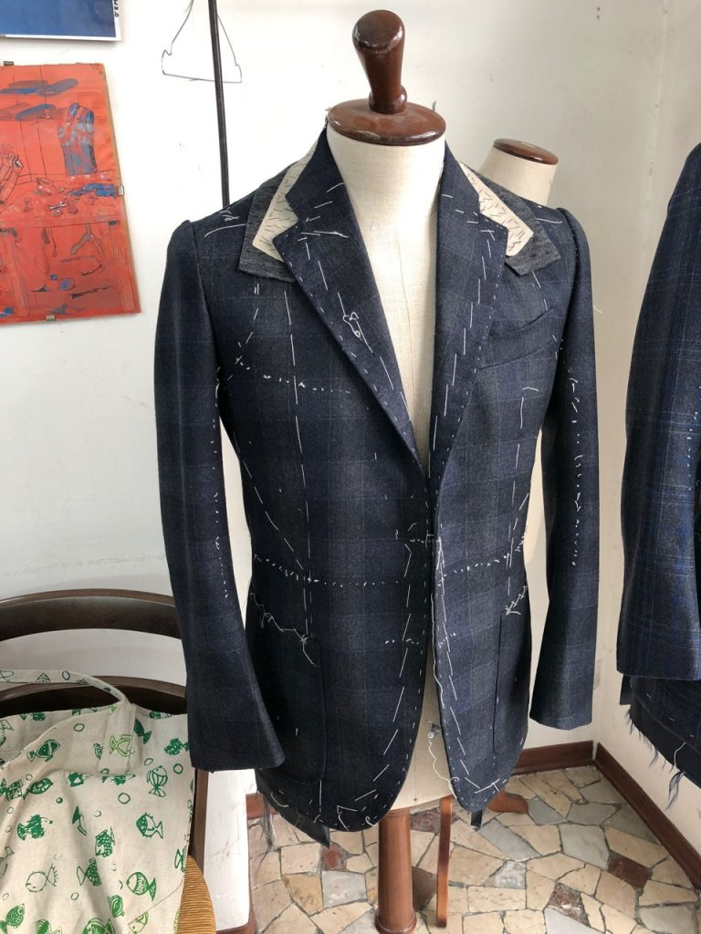 Palmisciano try-on jacket in fitting stage