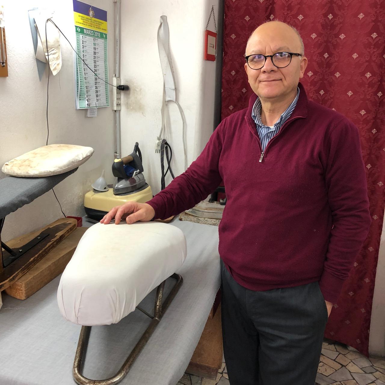 Sicilian tailor Vittorio Palmisciano