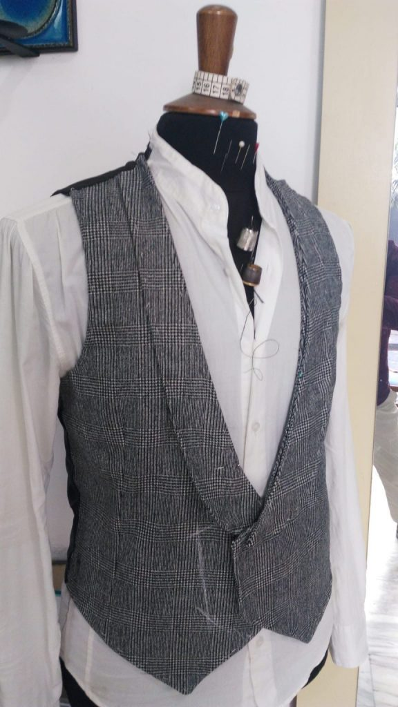 Bespoke vest by Vito Randazzo close to completion