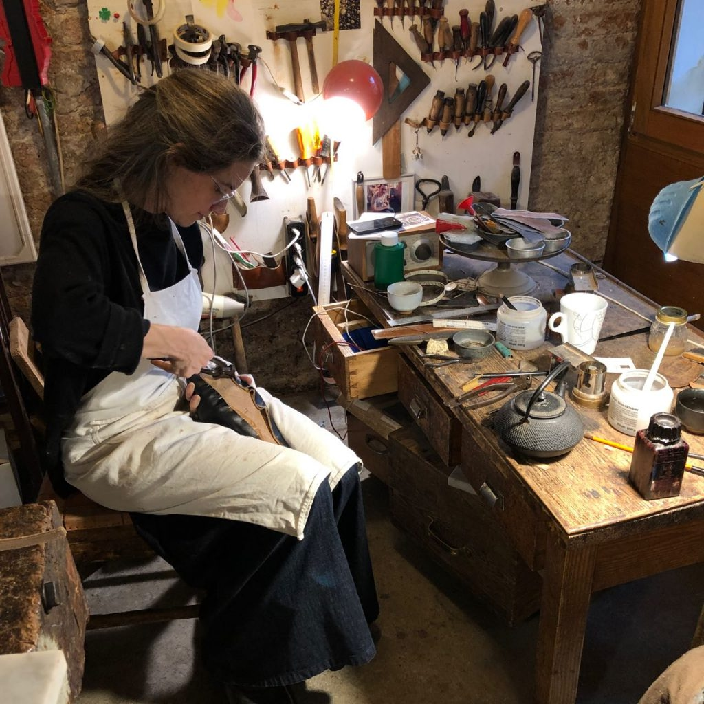 Venice-based shoemaker Gabriele Gmeiner. Photo credit: Juhn Maing.
