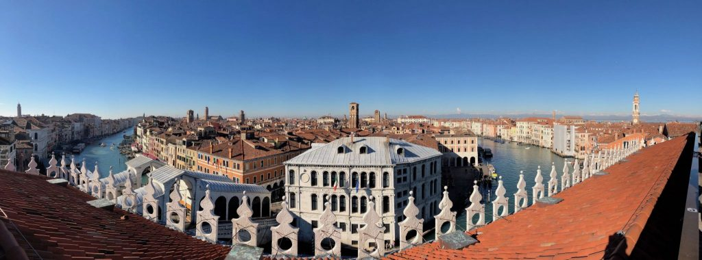 View from the rooftop deck of Fondaco dei Tedeschi. Photo credit: Juhn Maing