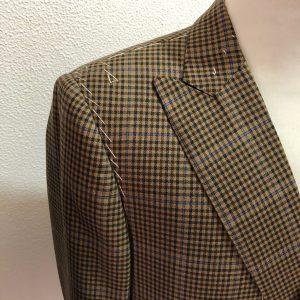 Close-up of a Savoca DB jacket shoulder. Photo credit: Juhn Maing