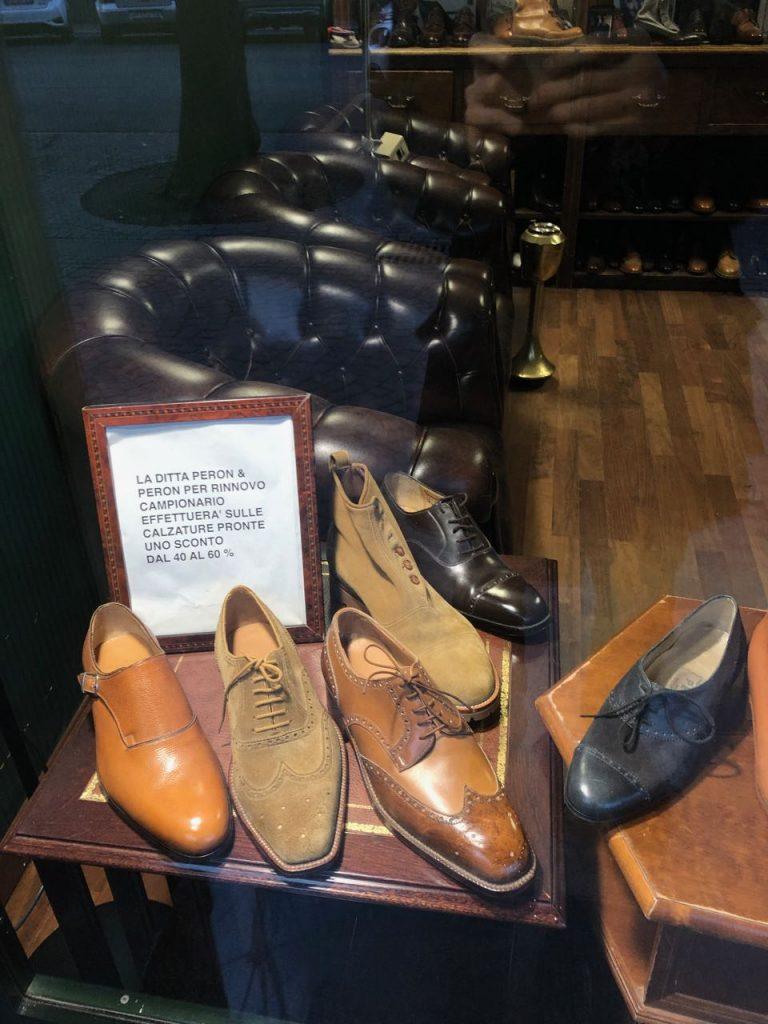 Peron & Peron sample shoes. Photo credit: Juhn Maing