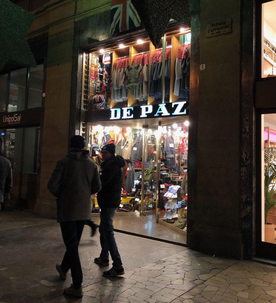 De Paz, a Bologna menswear institution. Photo credit: Juhn Maing