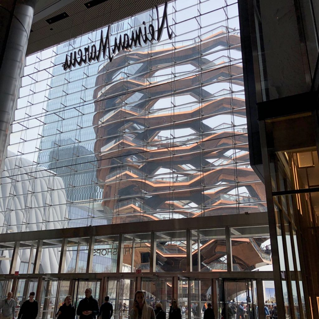 Hudson Yards shopping entrance. Photo credit: Juhn Maing