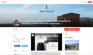 Sleevehead Patreon page