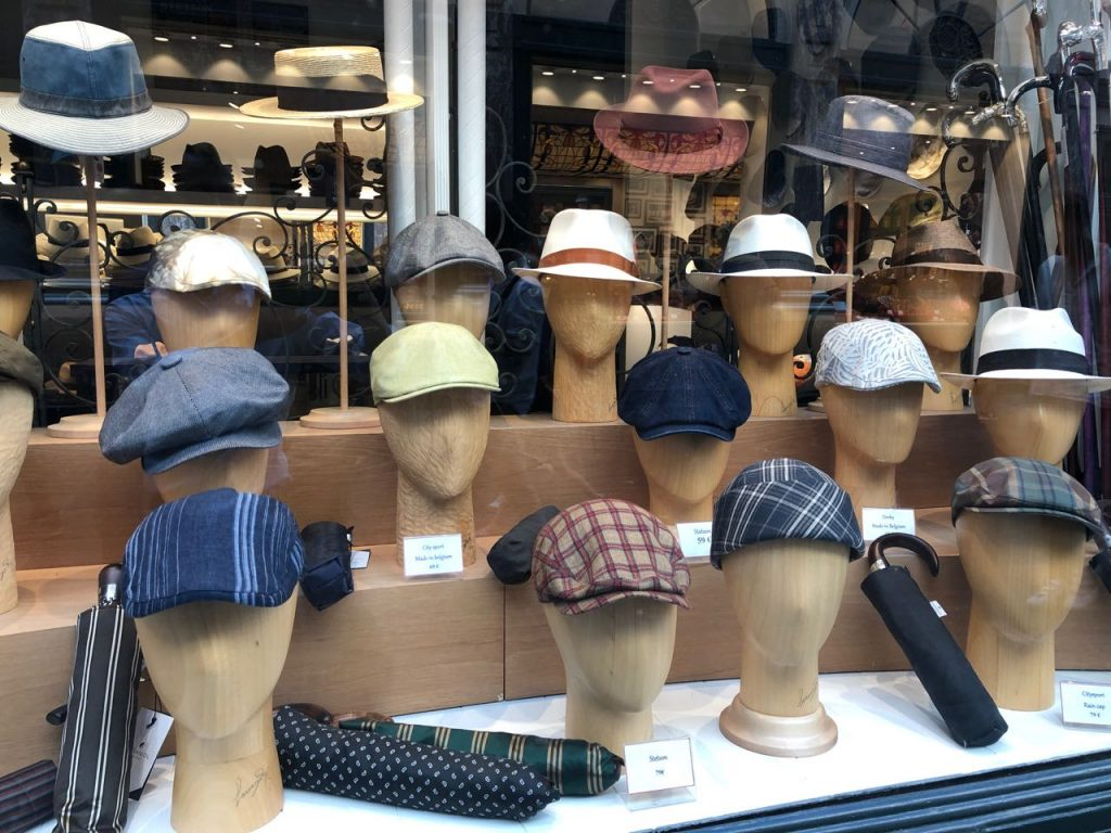 Hat store on Galerie de la Reine, Brussels. Photo credit: Juhn