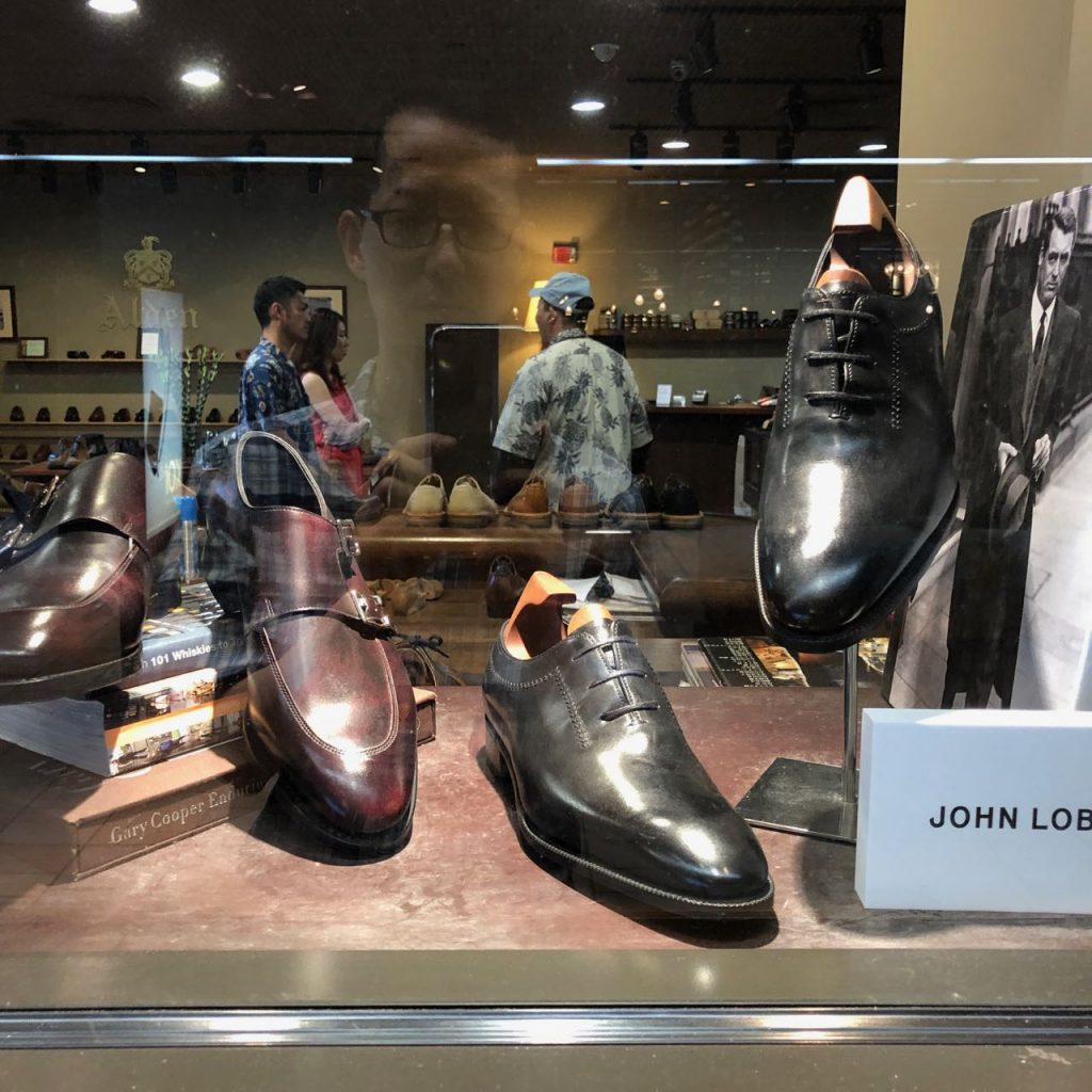 Leather Soul window display - John Lobb shoes