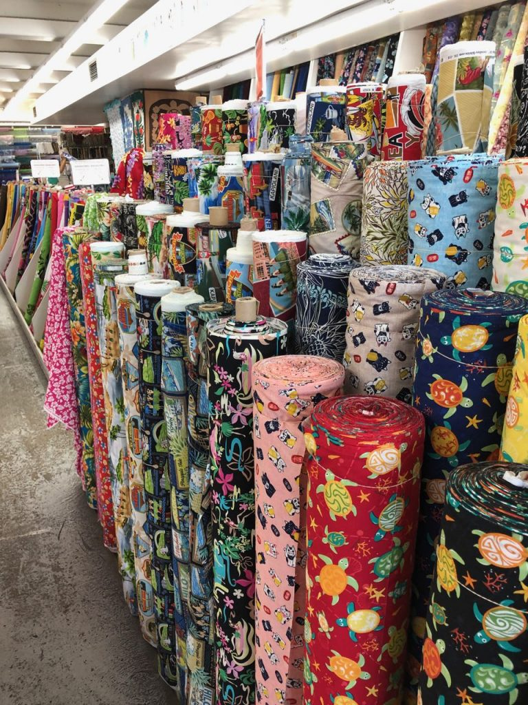 More shirt fabrics at Fabric Mart. Photo credit: Juhn Maing