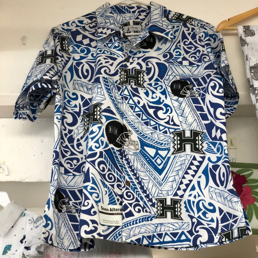 Sample custom aloha shirt by Soon Alteration. Photo credit: Juhn Maing