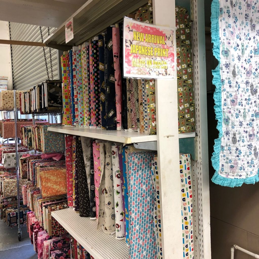 More Japanese prints at Fabric Mart. Photo credit: Juhn Maing