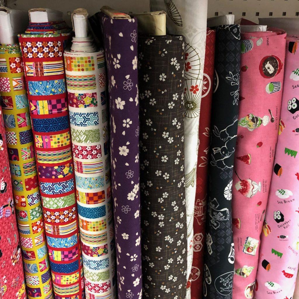 Japanese prints at Fabric Mart. Photo credit: Juhn Maing