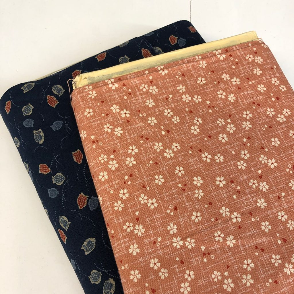 A couple of Japanese print cottons. Photo credit: Juhn Maing