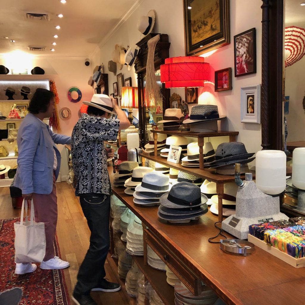 Carludovica hat shop. Photo credit: Juhn Maing