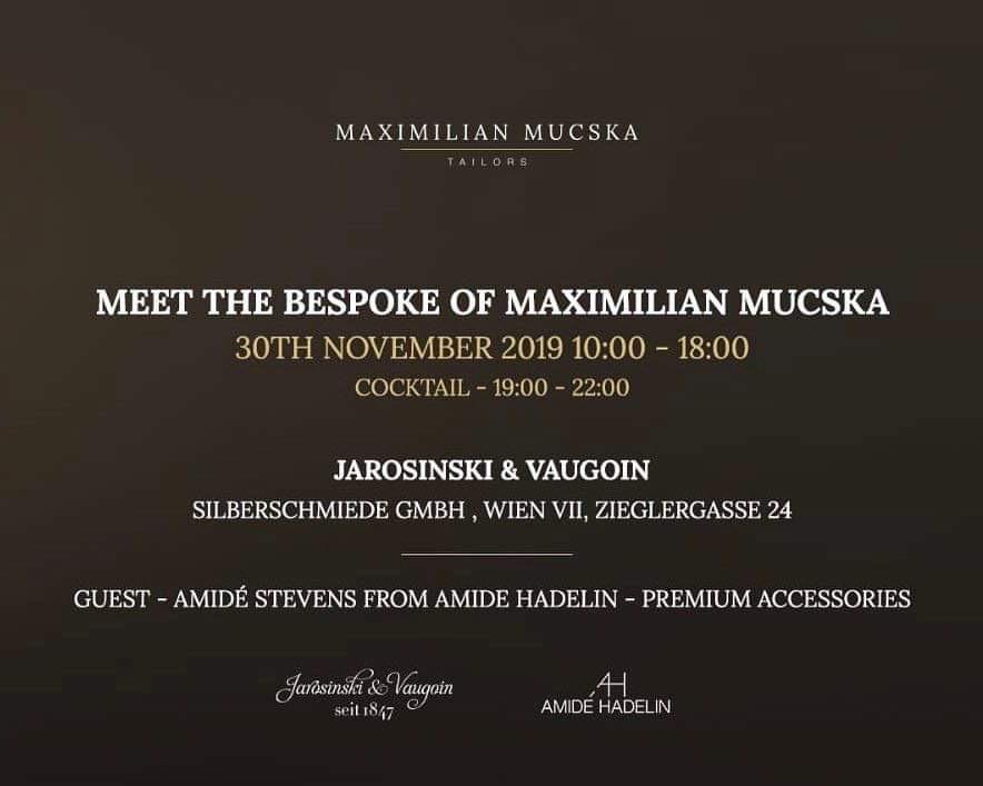 Maximilian Mucska trunk show