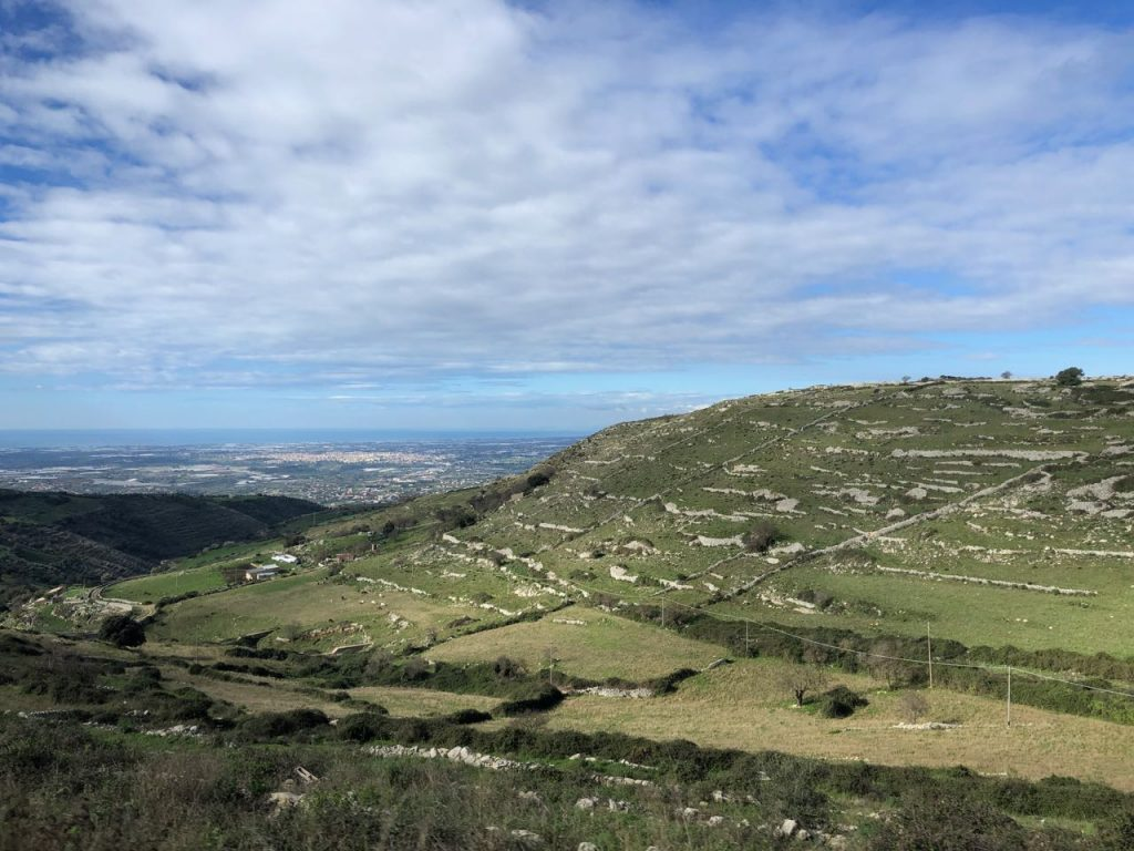 A view of the foothills around Ragusa. Photo credit: Juhn Maing.